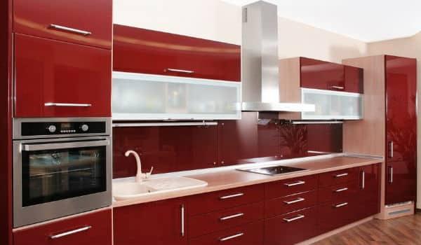 dapur merah putih minimalis 1