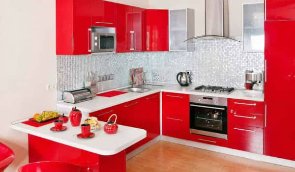 dapur merah putih minimalis 2