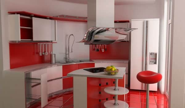 dapur merah putih minimalis 4